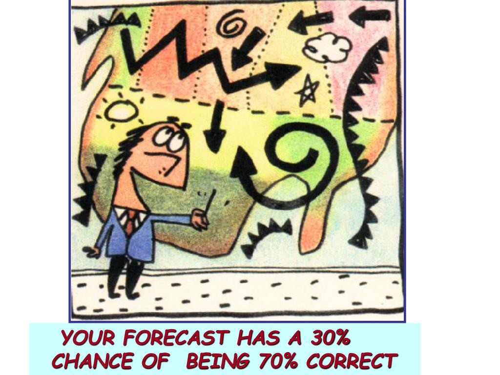YOUR FORECAST HAS A 30%