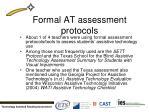 formal at assessment protocols