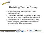 revisiting teacher survey