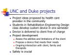 unc and duke projects