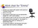 work chair for emma