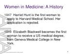 women in medicine a history