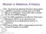 women in medicine a history17