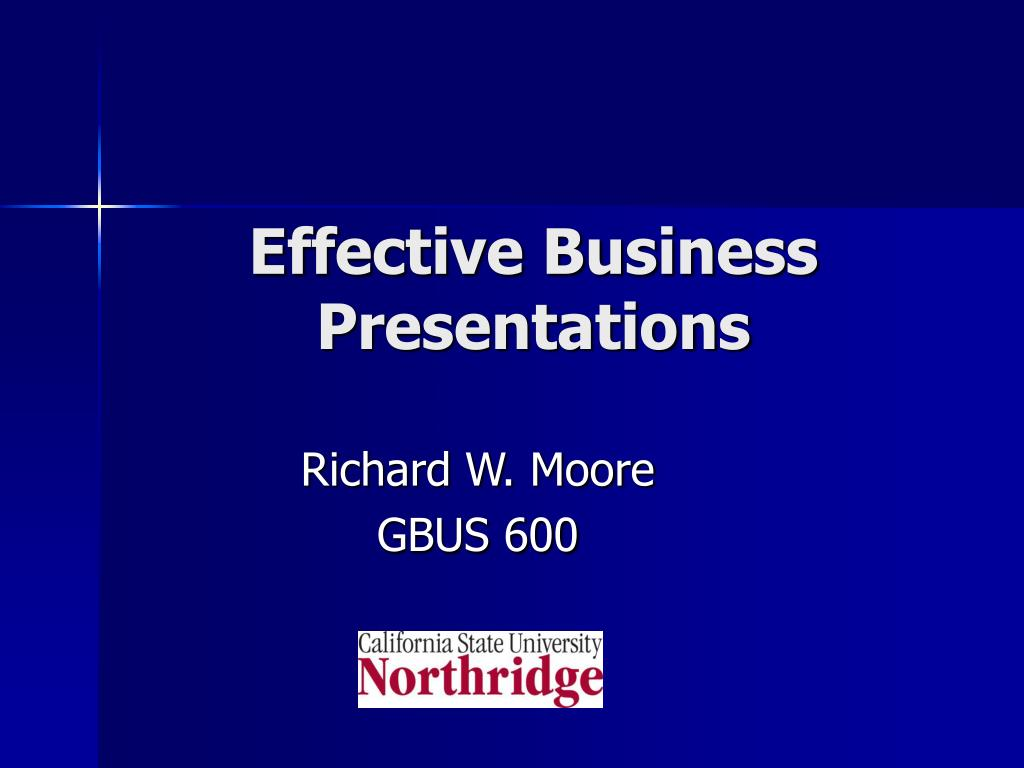 effective business presentations l.