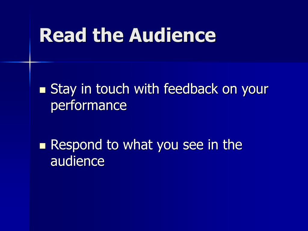 Read the Audience