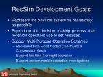 ressim development goals