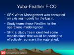 yuba feather f co