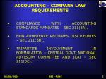 accounting company law requirements