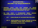 accounting income tax requirements