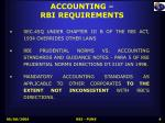 accounting rbi requirements
