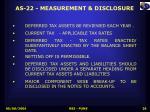 as 22 measurement disclosure