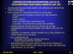 depreciation accounting as 6 accounting for fixed assets as 10