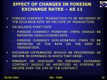 effect of changes in foreign exchange rates as 11