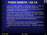fixed assets as 10