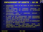 impairment of assets as 28