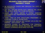 kelkar s task force report indirect taxes