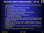 related party disclosures as 18