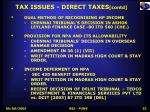 tax issues direct taxes contd
