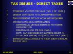 tax issues direct taxes