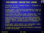 tax issues sales tax lease
