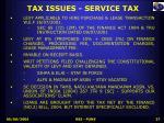 tax issues service tax