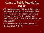 access to public records act basics22