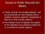 access to public records act basics24