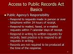 access to public records act basics28