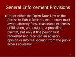 general enforcement provisions