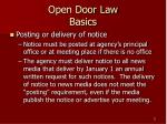 open door law basics11