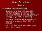 open door law basics9