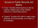 access to public records act basics21
