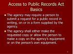 access to public records act basics22