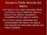 access to public records act basics23