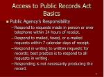 access to public records act basics24