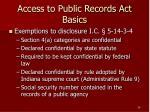 access to public records act basics26