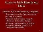 access to public records act basics27