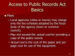 access to public records act basics28