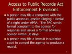 access to public records act enforcement provisions