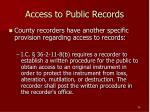 access to public records