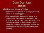 open door law basics11