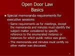open door law basics16