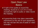 open door law basics17