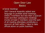 open door law basics7