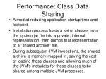 performance class data sharing