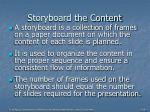 storyboard the content