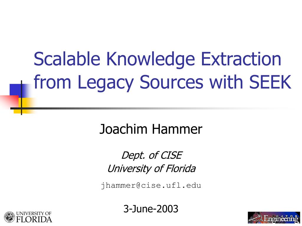 scalable knowledge extraction from legacy sources with seek l.