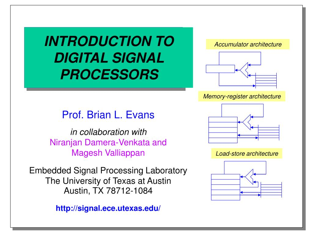 introduction to digital signal processors l.