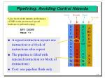 pipelining avoiding control hazards