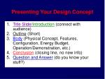 presenting your design concept